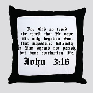 John 3:16 Throw Pillow