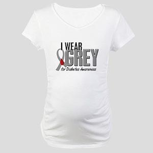 I Wear Grey 10 (Diabetes) Maternity T-Shirt
