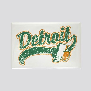 Detroit Irish Rectangle Magnet
