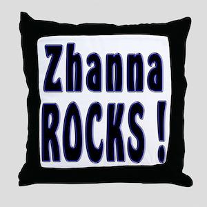 Zhanna Rocks ! Throw Pillow
