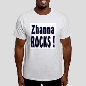 Zhanna Rocks ! Ash Grey T-Shirt