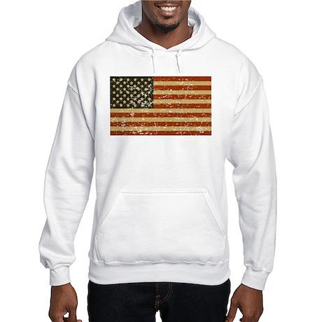 Vintage American Flag Hooded Sweatshirt