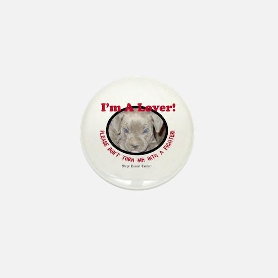 Pit Bull Puppy Anti Dog Fight Mini Button