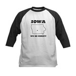 Funny Iowa Motto Kids Baseball Jersey
