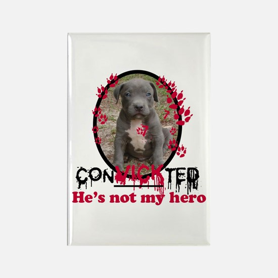 Con-Vick-ted Rectangle Magnet
