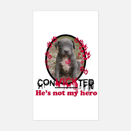 Con-Vick-ted Rectangle Decal