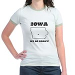 Funny Iowa Motto Jr. Ringer T-Shirt