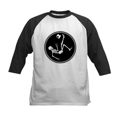 Bicycle Kick Skeleton Kids Baseball Jersey
