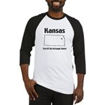 Funny Kansas Motto Baseball Jersey