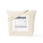 Funny Kansas Motto Tote Bag