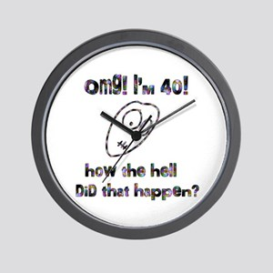 OMG! I'm Forty Wall Clock