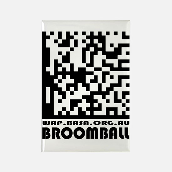 Cute Broomball basa Rectangle Magnet
