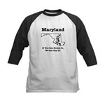 Funny Maryland Motto Kids Baseball Jersey