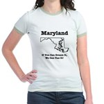 Funny Maryland Motto Jr. Ringer T-Shirt