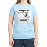 Funny Maryland Motto Women's Pink T-Shirt