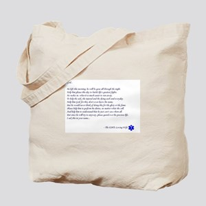 EMTs Wife Prayer Tote Bag