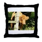 """young, free and ginger"" Throw Pillow"
