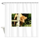 """young, free and ginger"" Shower Curtain"