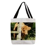 """young, free and ginger"" Polyester Tote"