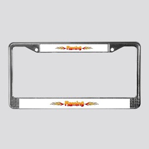 Flaming Red License Plate Frame