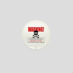 WARNING MMA Mini Button