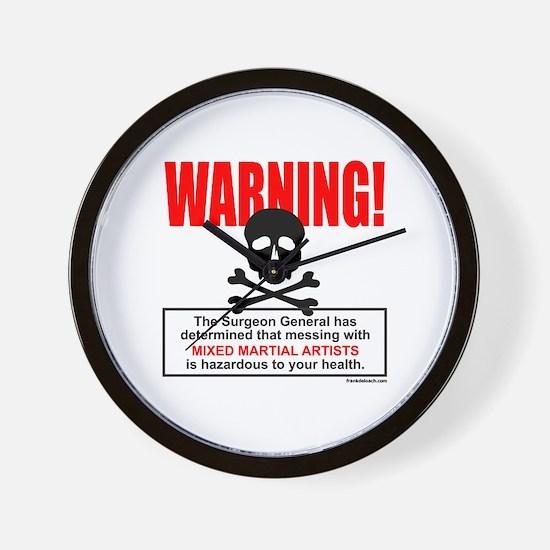 WARNING MMA Wall Clock