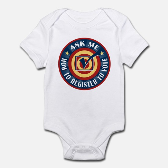 Ask me how to register to Vote Infant Bodysuit