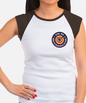 Ask me how to register to Vote Women's Cap Sleeve