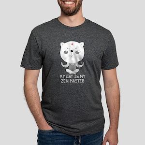My Cat is My Zen Master Mens Tri-blend T-Shirt