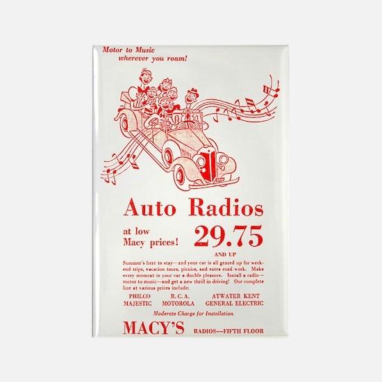 Macy's Auto Radios Rectangle Magnet