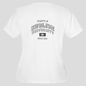 English University Women's Plus Size V-Neck T-Shir
