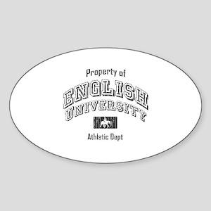 English University Oval Sticker