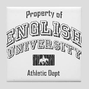 English University Tile Coaster