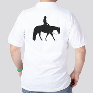 Male Pixel Pleasure Horse Golf Shirt