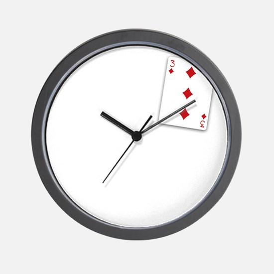 The Three of Diamonds Wall Clock