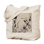 Birds & Cherry Blossoms Reusable Tote Bag