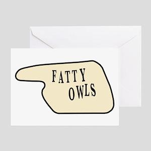 Monty python greeting cards cafepress fatty owls greeting card bookmarktalkfo Gallery