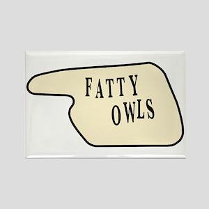 Fatty Owls Rectangle Magnet