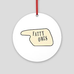 Fatty Owls Ornament (Round)