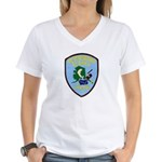 Petersburg Police Women's V-Neck T-Shirt