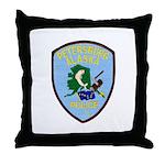 Petersburg Police Throw Pillow