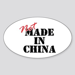 Not Made In China Oval Sticker