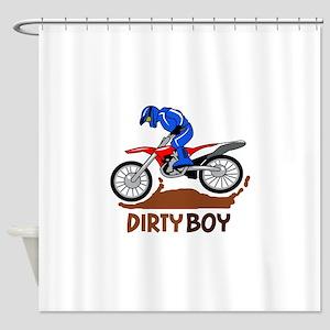 Dirty Boy Shower Curtain