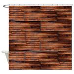Wood Grain Shower Curtain