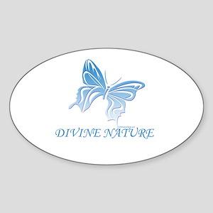 DIVINE NATURE Oval Sticker