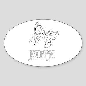 FAITH Oval Sticker