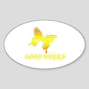 GOOD WORKS Oval Sticker