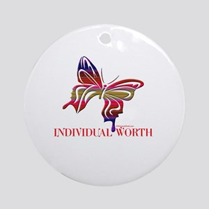 INDIVIDUAL WORTH Ornament (Round)