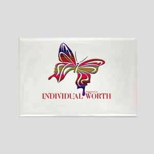 INDIVIDUAL WORTH Rectangle Magnet