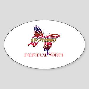 INDIVIDUAL WORTH Oval Sticker